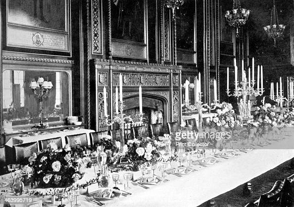 The Speaker's State Dining Room House of Commons Westminster London c1905 The Speaker's State Dining Room as it appeared before one of the Speaker's...
