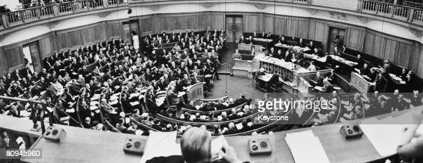 The Special Committee of the British Medical Association meeting at Church House Westminster London to discuss salaries 26th March 1964
