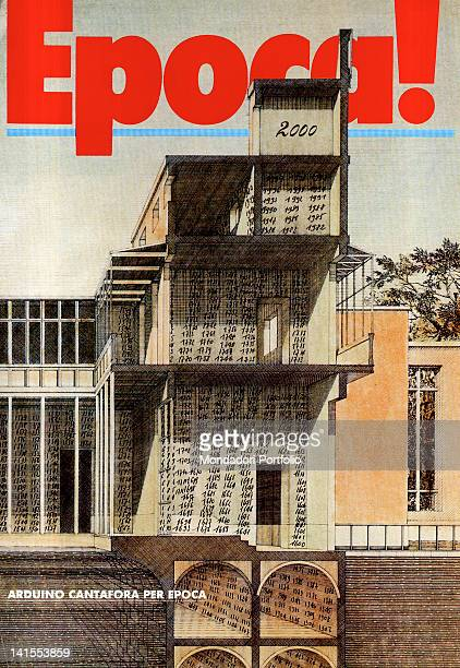 The special cover of the Italian weekly magazine Epoca made by Italian architect and painter Arduino Cantaforai on the occasion of the number 2000...