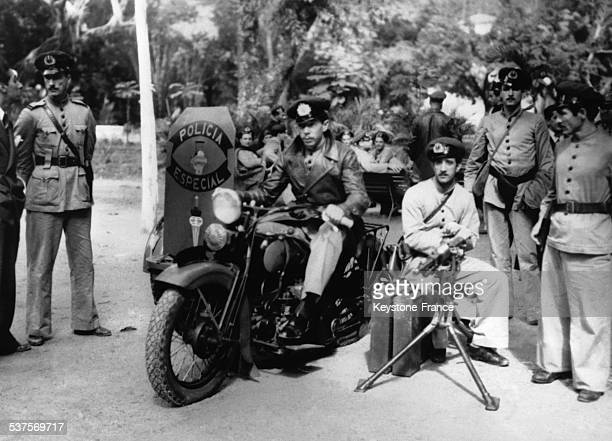 The Specials police forces protect the important areas of the city in Rio de Janeiro Brazil in May 1938