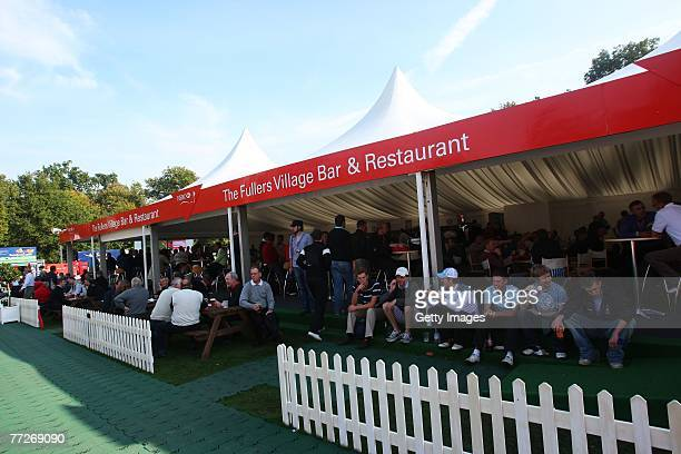 The Spectator Village during the First Round of the HSBC World Matchplay Championship at The Wentworth Club on October 11 2007 in Virginia Water...