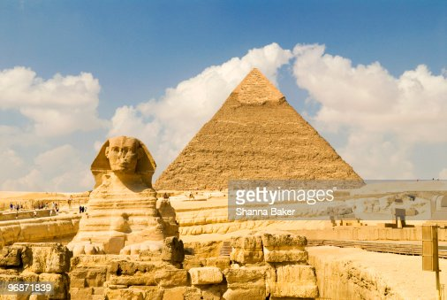 The Sphinx and The Pyramid of Khafre, Giza