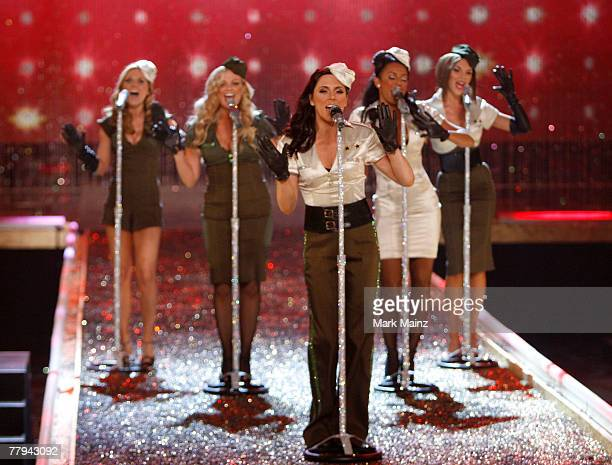 The Spice Girls perform at the 2007 Victoria's Secret fashion show held at the Kodak Theatre on November 15 2007 in Hollywood California The show...