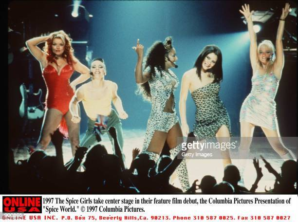 The Spice Girls take center stage in their feature film debut the Columbia Pictures Presentation of 'Spice World'