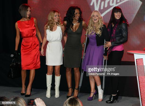 The Spice Girls Victoria Geri Mel B Emma Bunton amp Mel C open Virgin Atlantic's New Terminal at Heathrow Airport