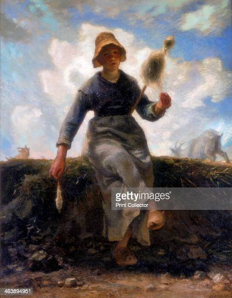 'The Spinner Goatherd of the Auvergne' c18681869 Found in the collection of the Musee d'Orsay Paris France