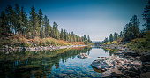 The Spokane River Centennial Trail is a 37 miles (60 km) paved trail in Washington for alternate transportation and recreational use. It extends from Sontag Park in Nine Mile Falls, Washington to the