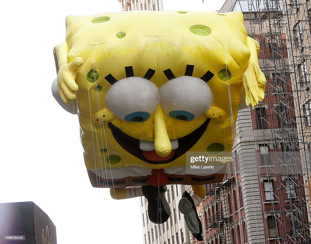 The Spongebob Squarepants balloon is seen during the 86th Annual Macy's Thanksgiving Day Parade on November 22, 2012 in New York City.