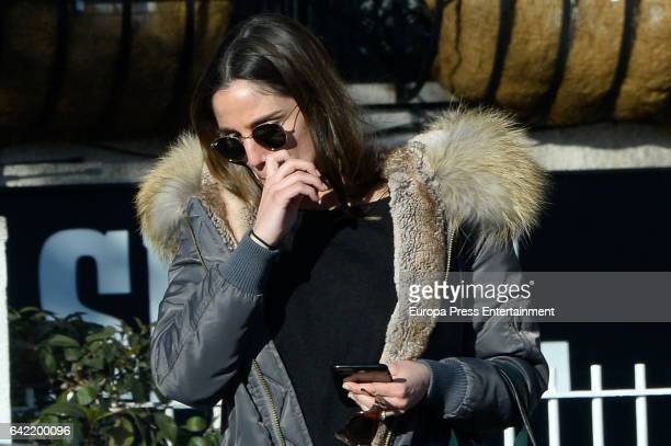 The sport journalist Lucia Villalon is seen crying after she breaks up with the Bayer Leverkusen football player the Mexican Javier Hernandez...
