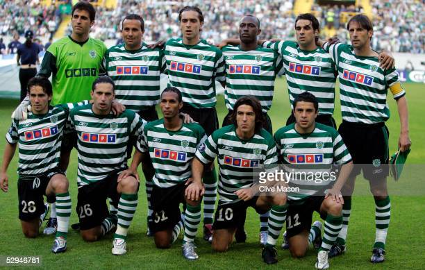 The Sporting Lisbon team poses prior the UEFA Cup Final between CSKA Moscow and Sporting Lisbon at the Jose Alvalade Stadium May 18 2005 Lisbon...