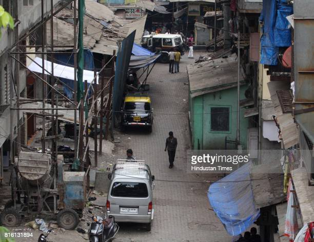 The spot at Pakmodia street where two alleged shooters who fired shots near residence of fugitive don Dawood Ibrahim's brother Iqbal Kaskar Kaskar's...