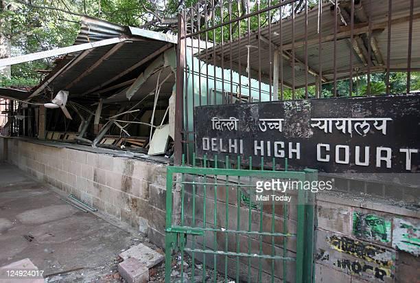 The Spot of last week Bomb Blast at Delhi High Court