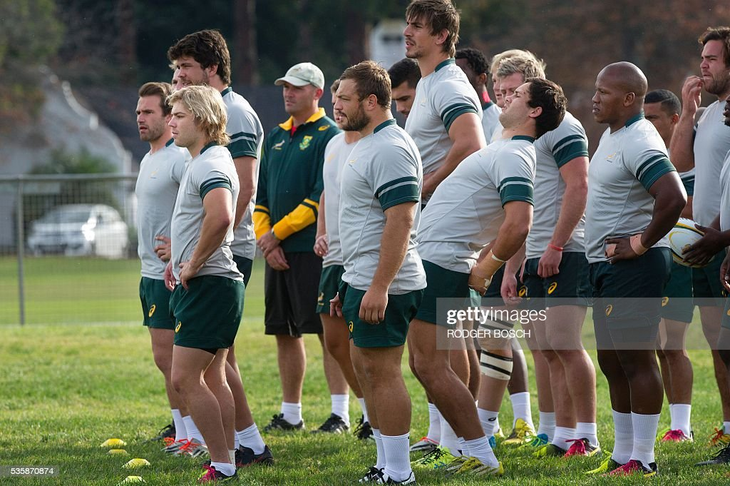 The Springbok team, South Africa's national rugby team, take part in... Pictures ...