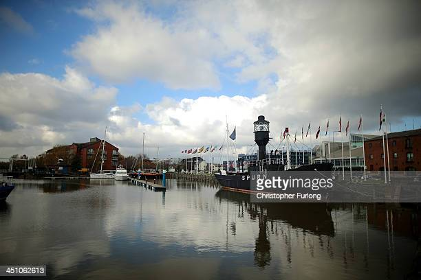 The Spurn Lightship sits in Hull Marina after the city was announced as the 2017 UK City of Culture on November 21 2013 in Hull England Hull in the...