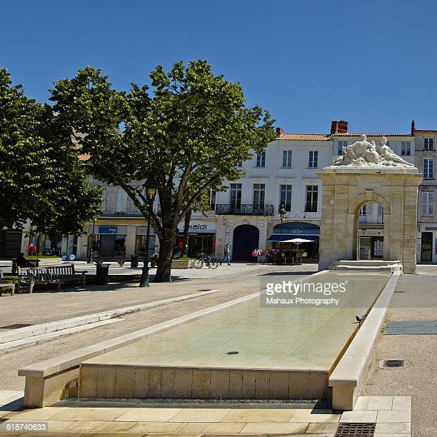 The square Colbert in Rochefort-sur-Mer