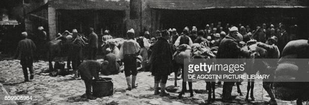 The square of Berat Albania World War I from l'Illustrazione Italiana Year XLV No 29 July 21 1918