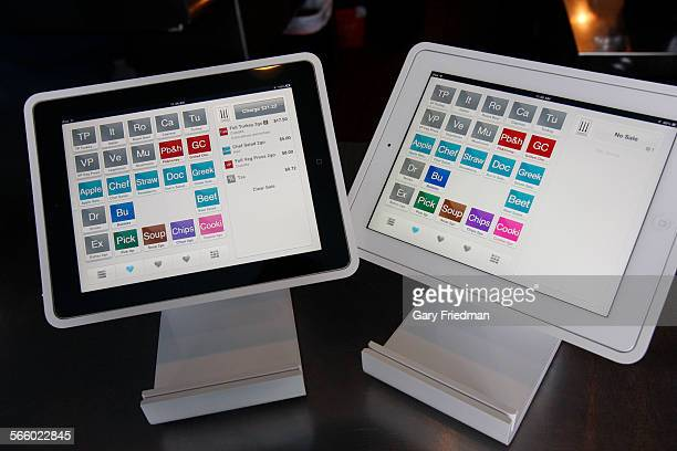 The Square Stand which is used at Schodorf's Luncheonette to write up orders as seen at the restaurant in the Highland Park area of Los Angeles on...