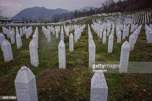 SREBRENICA BOSNIA FEBRUARY 22 The Srebrenica memorial officially known as the SrebrenicaPotoari Memorial and Cemetery for the VIctims of the 1995...