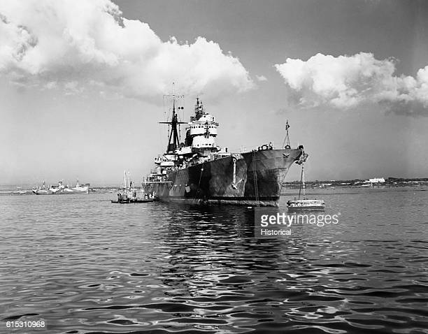 The SS Eugenio De Savoia and Italian cruiser surrendered at Taranto Italy November 17 1943