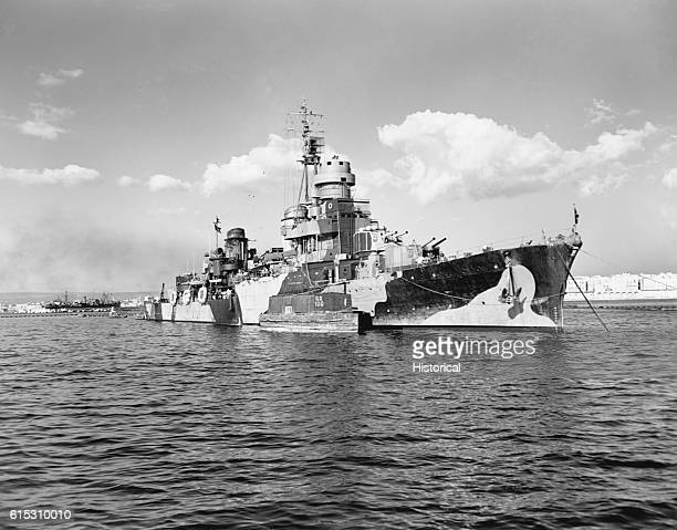 The SS Scipione Africano a Regelo class Italian cruiser was surrendered at Taranto Italy during the Invasion of Italy during 1943