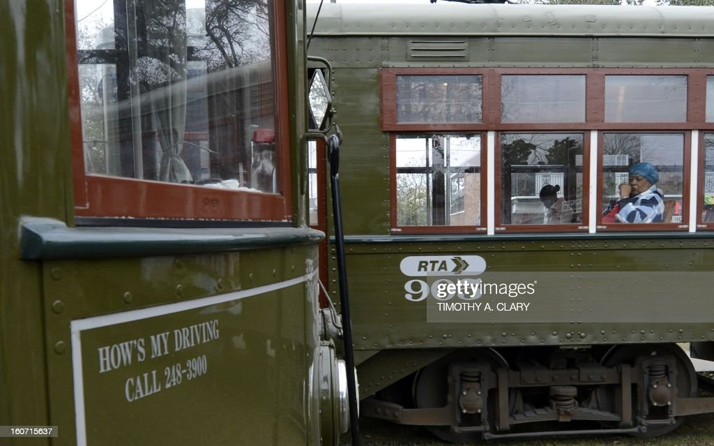 The St Charles line streetcar in New Orleans Louisiana Febuary 4 which travels from the edge of the French Quarter all the way down beautiful St...