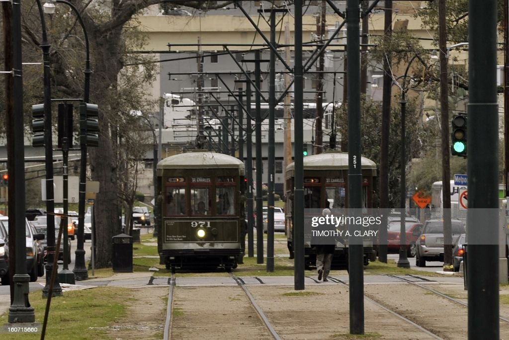 The St. Charles line streetcar in New Orleans, Louisiana Febuary 4, 2013, which travels from the edge of the French Quarter all the way down beautiful St. Charles Avenue, passing by celebrated restaurants, shops, and hotels. Some destinations of note include the Garden District, Audubon Park. The original line dates back to 1835, and due to its status on the National Register of Historic Places, by federal law the current 'Perley Thomas' streetcars in use must be preserved in time as they existed in 1923.