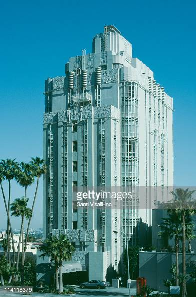 The St James's Club later the Sunset Tower or Sunset Tower Hotel on the Sunset Strip in West Hollywood California 9th April 1991 It was designed in...