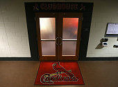 The St Louis Cardinals' clubhouse entrance before a game against the Minnesota Twins on Tuesday June 16 at Busch Stadium in St Louis