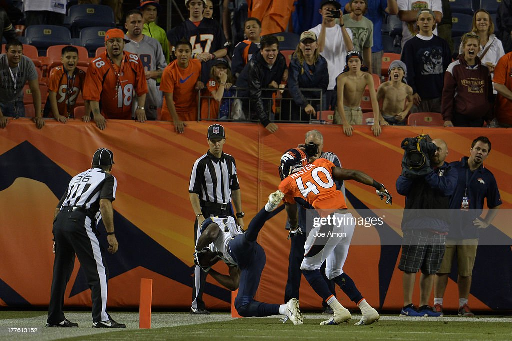 The St. Louis Rams lose to the Broncos as their attempt for 2 points fails at the end of the 4th quarter during the 3rd pre-season game of the season at Sports Authority Field at Mile High. August 24, 2013 Denver, Colorado.