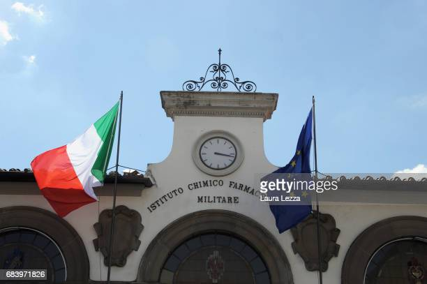 The Stabilimento Chimico Farmaceutico Militare is displayed on May 16 2017 in Florence Italy The Military Pharmaceutical Chemical Plant is ready to...