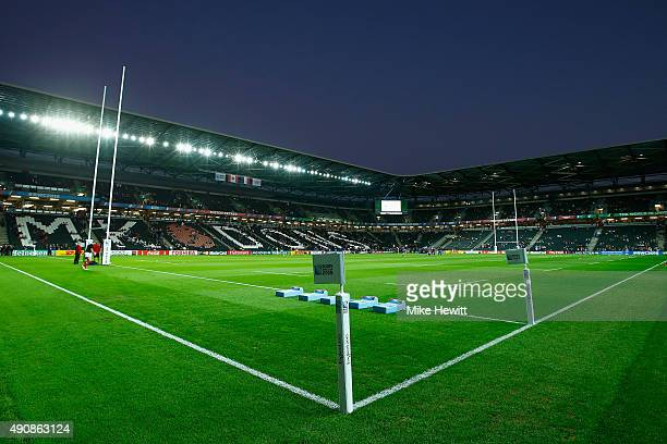 The stadium is ready for the 2015 Rugby World Cup Pool D match between France and Canada at Stadium mk on October 1 2015 in Milton Keynes United...