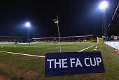 The stadium is ready for the FA Cup Fourth Round match between Cambridge United and Manchester United at The R Costings Abbey Stadium on January 23...