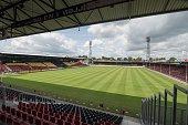 the stadium of Go Ahead Eagles during the team presentation of Go Ahead Eagles on July 15 2016 at the Adelaarshorst Stadium in Deventer The...