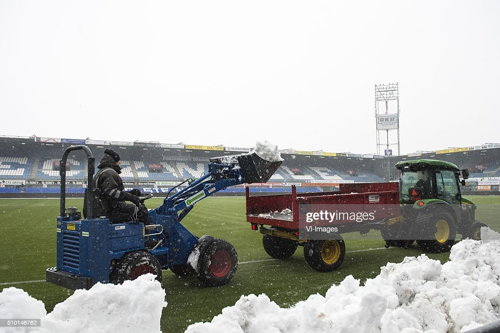 the stadium of PEC Zwolle during the Dutch Eredivisie match between PEC Zwolle and Feyenoord Rotterdam at the IJsseldelta stadium on February 14, 2016 in Zwolle, The Netherlands