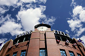 The stadium stands ready on Opening Day of Major League Baseball as the Arizona Diamondbacks face the Colorado Rockies at Coors Field on April 2 2007...
