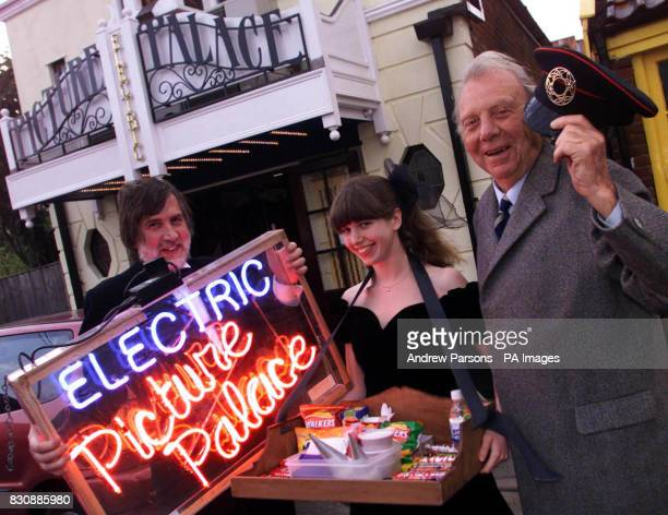 The staff of the Electric Picture Palace John Bennet Rosie Bennett and Cliff French Johns in Southwold Suffolk Film enthusiasts have recreated a...