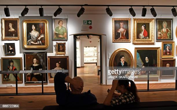 The staff of the Museum of Warsaw prepare for its reopening after four years of renovation and redesign on May 26 2017 in Warsaw The new main...