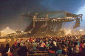 The stage collapses at the Indiana State Fair August 13 2011 in Indianapolis Indiana The stage fell just before country duo Sugarland were scheduled...