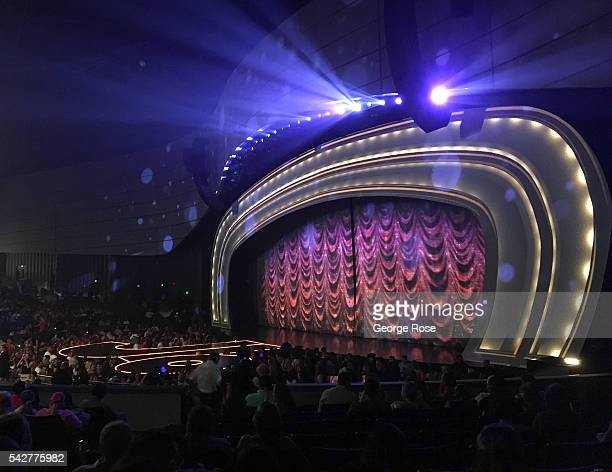 The stage for Jennifer Lopez's 'All I Have' performance at Planet Hollywood Hotel Casino is viewed on June 9 2016 in Las Vegas Nevada Tourism in...