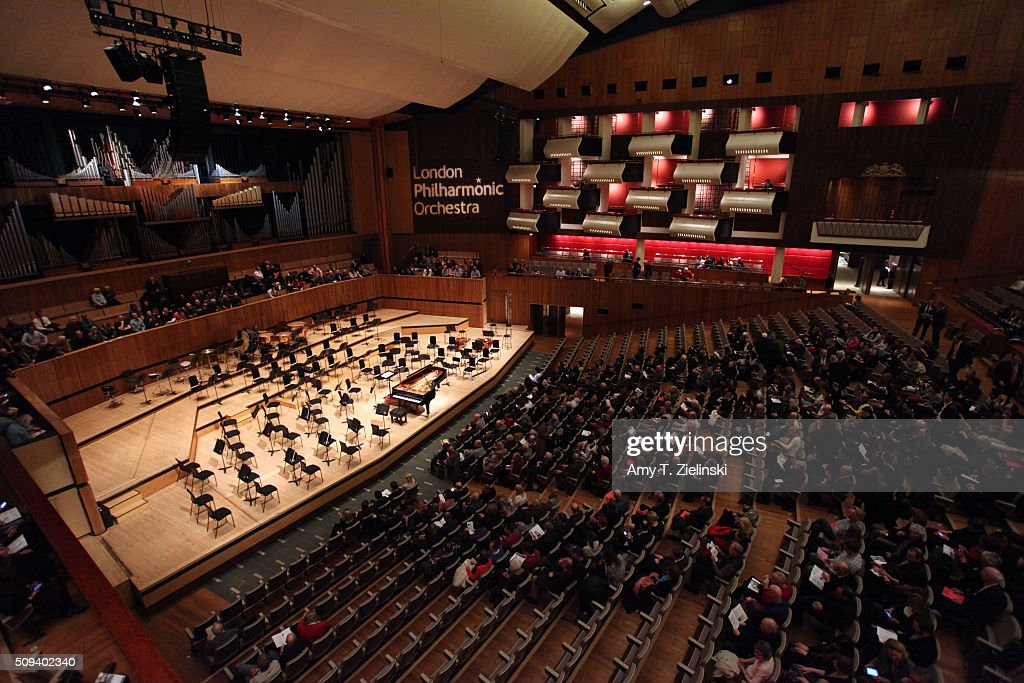 The stage is ready for English pianist Stephen Hough to play the piano as Finnish conductor Osmo Vanska leads the London Philharmonic Orchestra in composer Antonin Dvorak's Piano Concerto in G minor in the Southbank Centre's the Royal Festival Hall on February 10, 2016 in London, England.