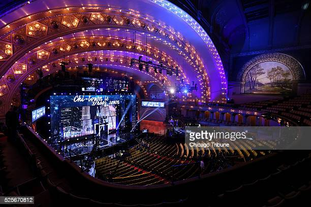 The stage is set for the first round of the NFL draft at the Auditorium Theatre in Chicago on Thursday April 28 2016