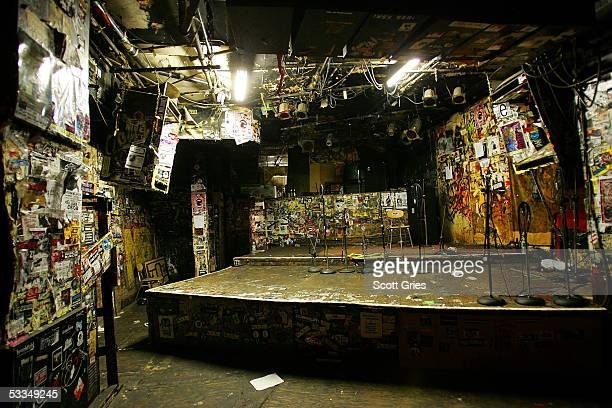 The stage of legendary punk rock club CBGB's sits empty during the last month of its current lease August 10 2005 in New York City