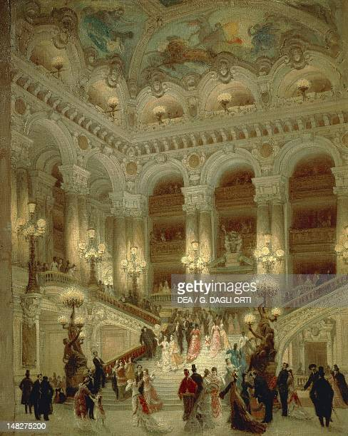 The staircase of the Paris Opera by Louis Beroud oil on canvas 65x54 cm Paris Hôtel Carnavalet