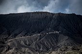 the stairway to Crater mount Bromo