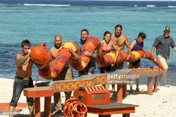 'The Stakes Have Been Raised' Caleb Reynolds Tony Vlachos Jeff Varner Hali Ford Troyzan Robertson Aubry Bracco and Jeff Probst on SURVIVOR Game...