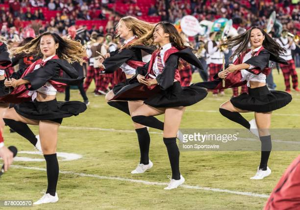 The Stanford Cardinal dancers performing in Hogwarts attire during the regular season game between the California Golden Bears and Stanford Cardinals...