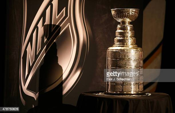 The Stanley Cup is seen during the 2015 NHL Draft at BBT Center on June 27 2015 in Sunrise Florida