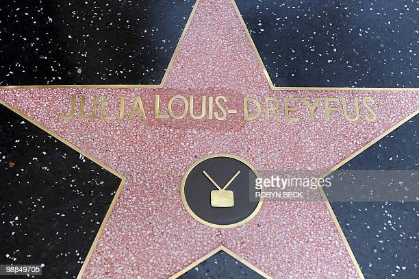 The star of actress Julia LouisDreyfus with corrected spelling is shown after her Walk of Fame star ceremony in the Hollywood section of Los Angeles...
