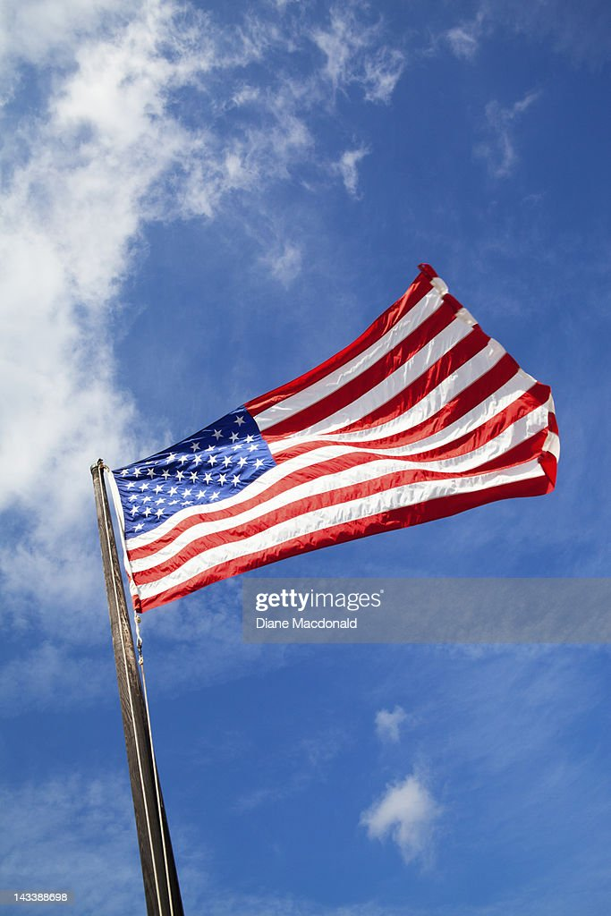 The Stars and Stripes proudly flying : Stock Photo