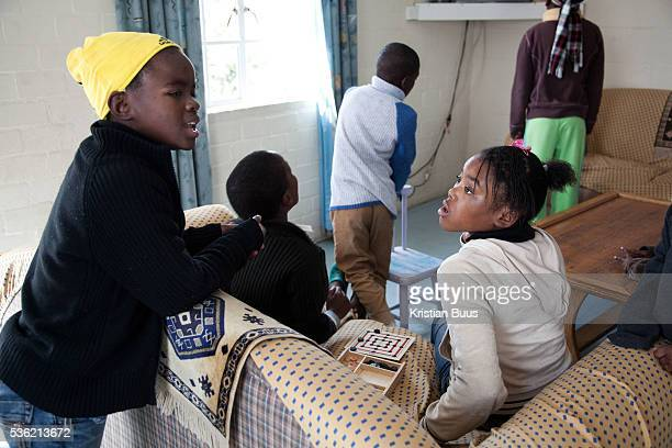 The Stars Foundation visiting Home from Home in Cape Town South Africa At the home of Beaullah the foster mother of 6 in Khayelitsha township outside...